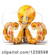 3d Happy Orange Octopus