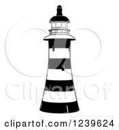 Black And White Striped Lighthouse