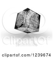 Clipart Of A 3d Competency Word Collage Box Royalty Free CGI Illustration by MacX