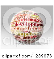 Clipart Of A 3d Competency Word Collage Sphere Royalty Free CGI Illustration