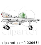 Clipart Of A Black Boy Astronaut Flying A Star Fighter Jet Royalty Free Illustration by Dennis Cox