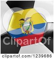3d Close Up Of An Ecuadorian Flag On A Soccer Ball
