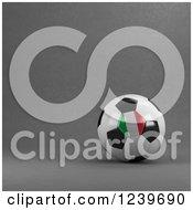 3d Italian Soccer Ball Over Gray