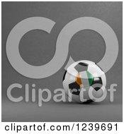 3d Ivory Coast Soccer Ball Over Gray