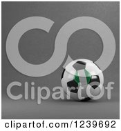 Clipart Of A 3d Nigerian Soccer Ball Over Gray Royalty Free CGI Illustration