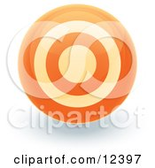 Orange Target Circle Icon Internet Button Clipart Illustration