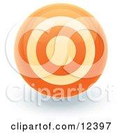 Orange Target Circle Icon Internet Button