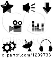 Clipart Of Black And White Internet Icons Royalty Free Vector Illustration