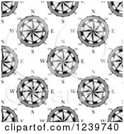 Clipart Of A Seamless Background Pattern Of Compasses Royalty Free Vector Illustration