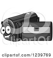 Clipart Of A Happy Cartoon Cam Corder Royalty Free Vector Illustration