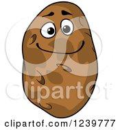 Clipart Of A Cartoon Happy Potato Royalty Free Vector Illustration