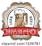 Clipart Of A Best Quality Beer Label Royalty Free Vector Illustration by Vector Tradition SM