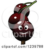 Clipart Of A Cartoon Happy Currant Royalty Free Vector Illustration