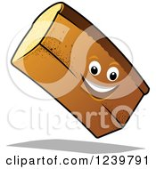 Clipart Of A Cartoon Happy Bread Loaf Royalty Free Vector Illustration