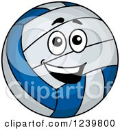 Clipart Of A Happy Cartoon Volleyball Royalty Free Vector Illustration by Vector Tradition SM