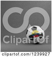 3d Ecuador Soccer Ball Over Gray