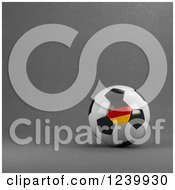 Clipart Of A 3d German Soccer Ball Over Gray Royalty Free Illustration by stockillustrations