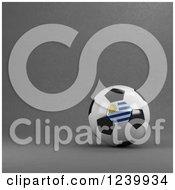 3d Uruguay Soccer Ball Over Gray
