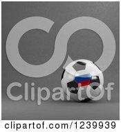 3d Russian Soccer Ball Over Gray