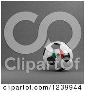 3d Mexico Soccer Ball Over Gray