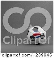 3d Costa Rican Soccer Ball Over Gray