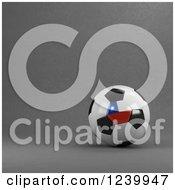 3d Chilean Soccer Ball Over Gray