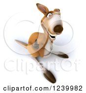Clipart Of A 3d Kangaroo Giving A Thumb Up Royalty Free Illustration