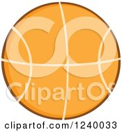 Clipart Of A Basketball Royalty Free Vector Illustration