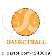 Clipart Of A Basketball With Text Royalty Free Vector Illustration by Hit Toon