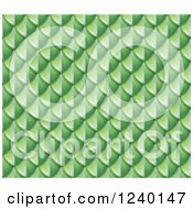Clipart Of A Seamless Green Snake Skin Or Scales Background Royalty Free Vector Illustration by AtStockIllustration