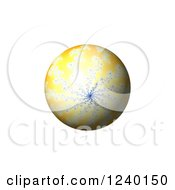 Clipart Of A 3d Fractal Spiral Globe On White Royalty Free Illustration