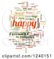Clipart Of A Colorful Happy Word Tag Collage Royalty Free Illustration by oboy