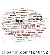 Clipart Of A Love Word Tag Collage Royalty Free Illustration