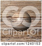 Clipart Of A 3d Wood Globe Over Grain Royalty Free Illustration by oboy