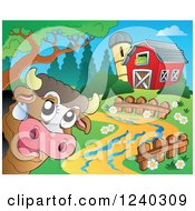 Barnyard With A Cow