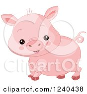 Clipart Of A Cute Farm Animal Pig Royalty Free Vector Illustration by Pushkin