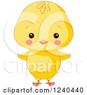 Clipart Of A Cute Farm Animal Chick Royalty Free Vector Illustration
