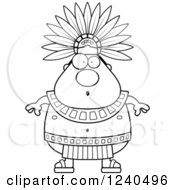 Clipart Of A Surprised Gasping Aztec Chief King Royalty Free Vector Illustration