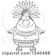 Clipart Of A Happy Aztec Chief King Royalty Free Vector Illustration by Cory Thoman