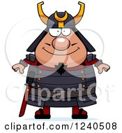 Clipart Of A Happy Samurai Warrior Royalty Free Vector Illustration by Cory Thoman