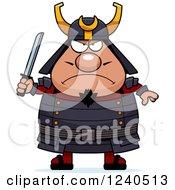 Tough Samurai Warrior Holding A Sword