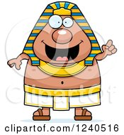 Clipart Of A Smart Ancient Egyptian Pharaoh With An Idea Royalty Free Vector Illustration