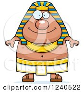 Clipart Of A Happy Ancient Egyptian Pharaoh Royalty Free Vector Illustration by Cory Thoman