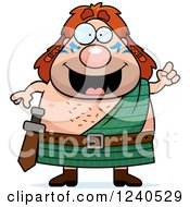 Clipart Of A Smart Celt Man With An Idea Royalty Free Vector Illustration by Cory Thoman
