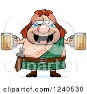 Drunk Celt Man Holding Beer