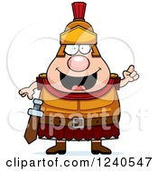 Clipart Of A Smart Roman Centurion With An Idea Royalty Free Vector Illustration by Cory Thoman