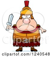 Clipart Of A Tough Roman Centurion Holding A Sword Royalty Free Vector Illustration by Cory Thoman
