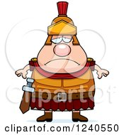 Clipart Of A Sad Depressed Roman Centurion Royalty Free Vector Illustration by Cory Thoman
