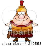 Clipart Of A Happy Roman Centurion Royalty Free Vector Illustration by Cory Thoman
