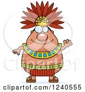 Friendly Waving Aztec Chief King